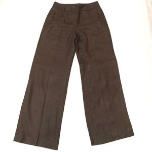 Talbots brown wide leg trouser 4